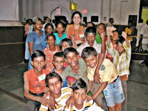 Shachi Singh with the children she has rescued from the Lucknow Railway Station. Thanks to Singh's organisation, Ehsaas, the Lucknow station is free of child labour now. (Credit: TarannumWFS)