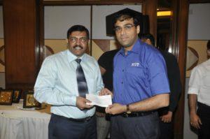 Charu with Vishwanathan Anand