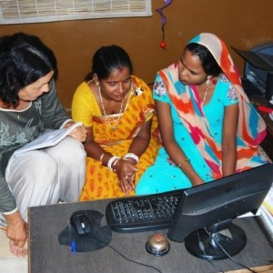 Computer classes run by Sambhali Trust