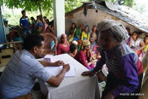 At one of Care Vectors' medical camps.