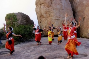 Dancers performing to the Shanti Mantra