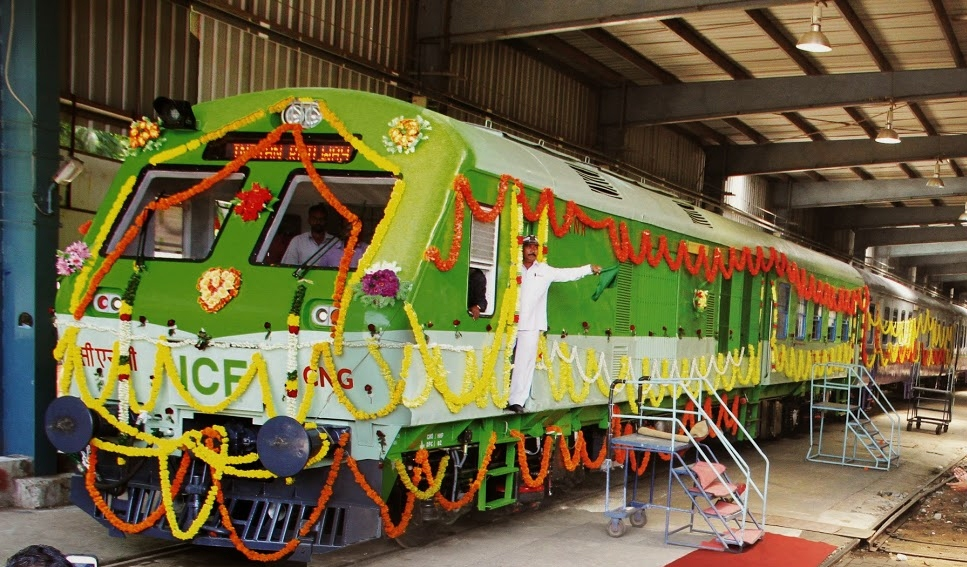 3 Cheers For The Launch Of India's First CNG Powered Train