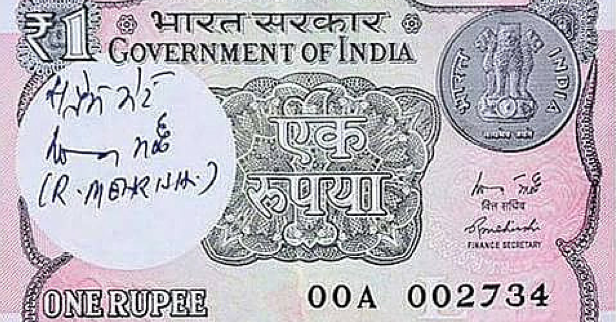 6 Interesting Facts About The Newly Re-launched Rupee One Currency Note