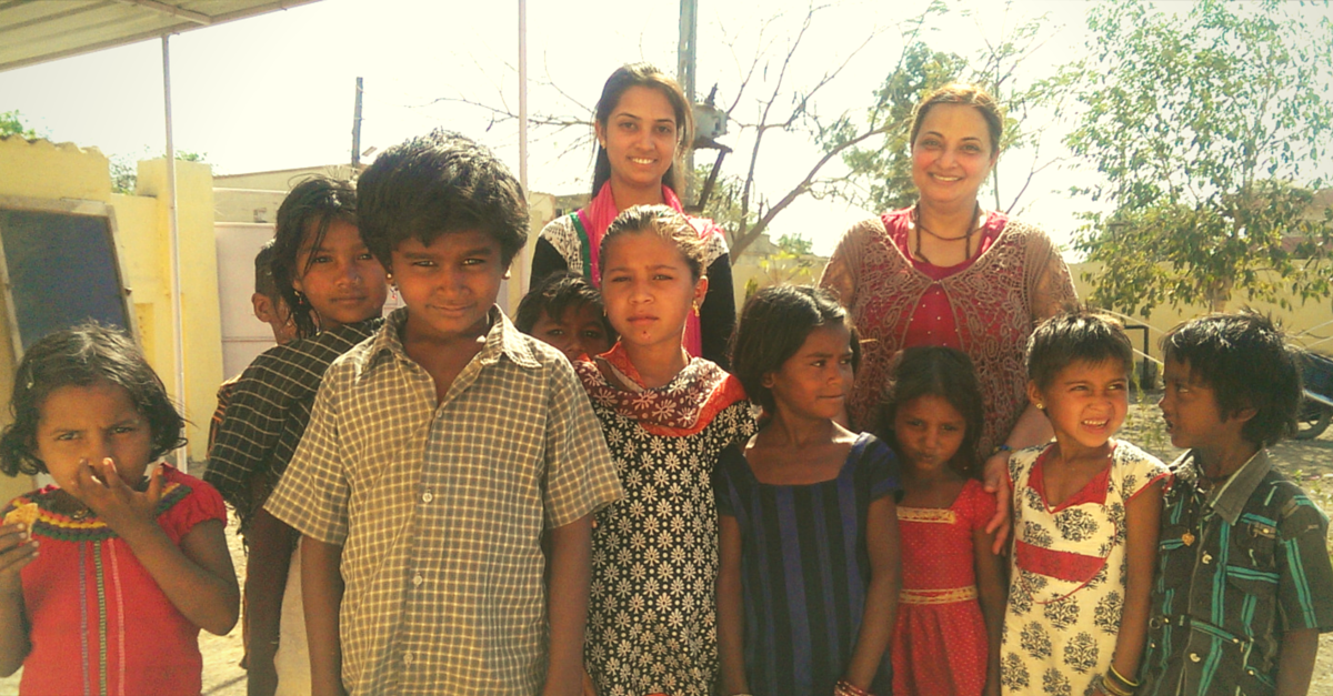 She travels from Canada to a village in India to impart Montessori education to underprivileged kids