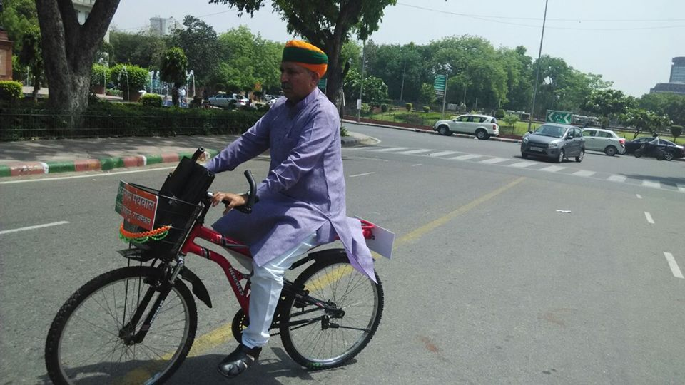 Do You Know about our Lok Sabha Member who Cycles to Work?