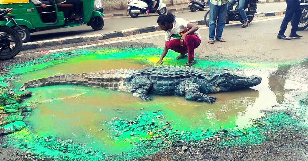 Photo Feature: The Artist who left a Crocodile on the Road
