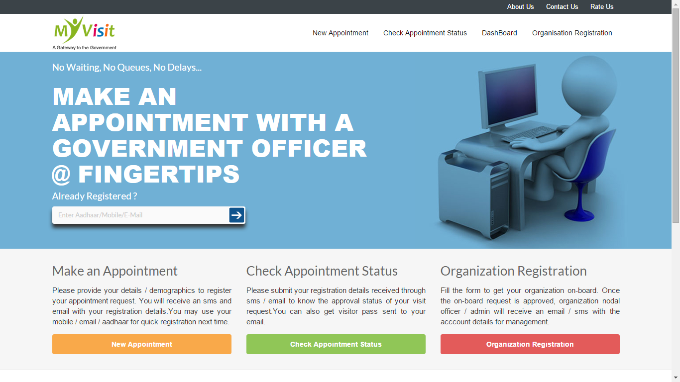 Now Get An Appointment with a Government Officer in just a Few Clicks