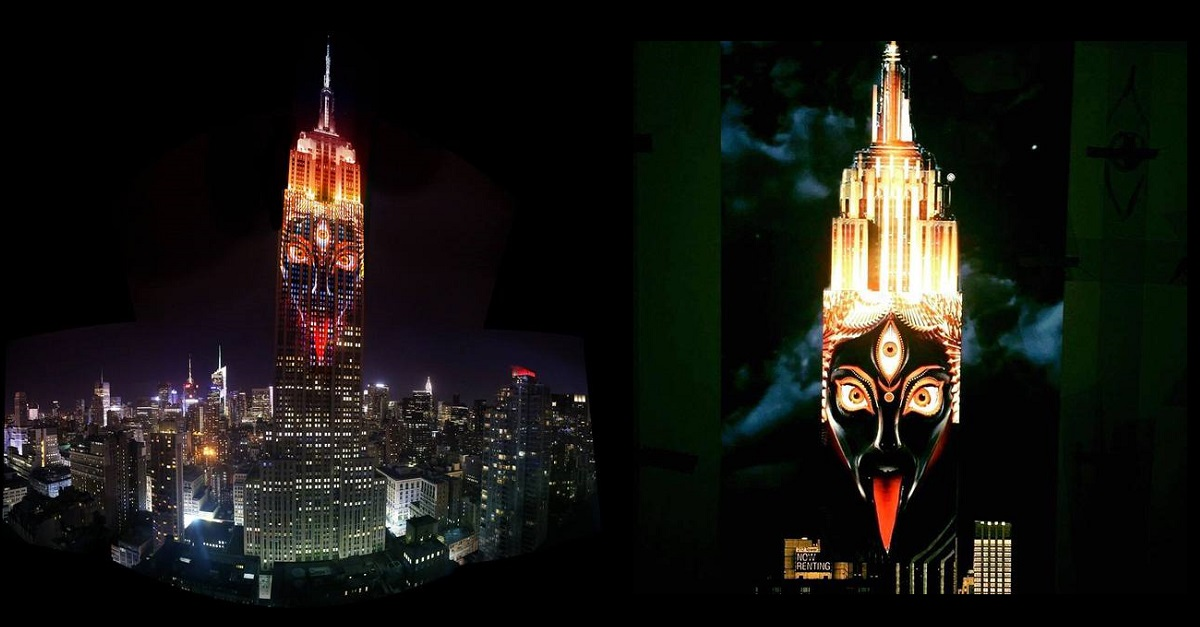 Kali, Goddess of Darkness, Lights up Empire State Building