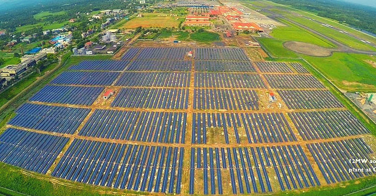 Cochin Airport to be India's First to Run on Solar Power