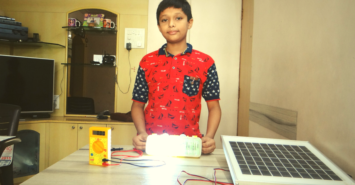 When His Father's Laptop Battery Stopped Working, This 11-Year-Old Created a Solar Light From It