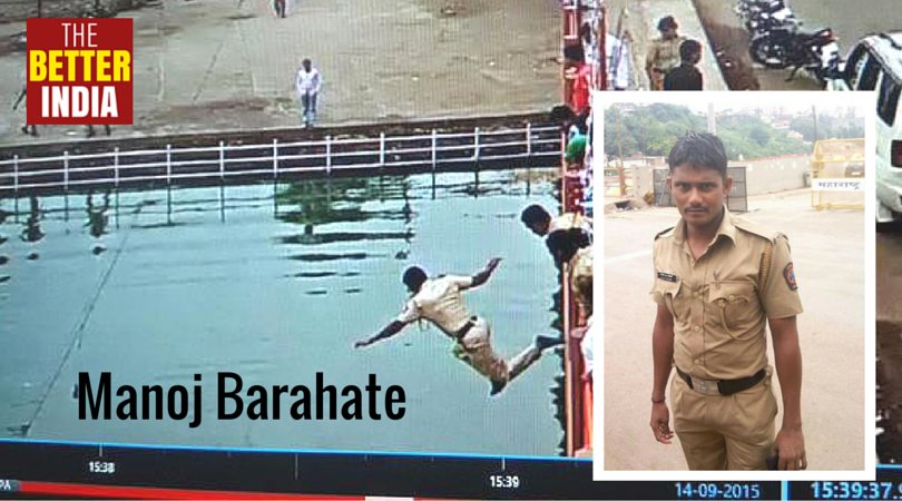 This Brave Cop Jumped off a 20 Feet High Bridge to Save a Man's Life at the Kumbh