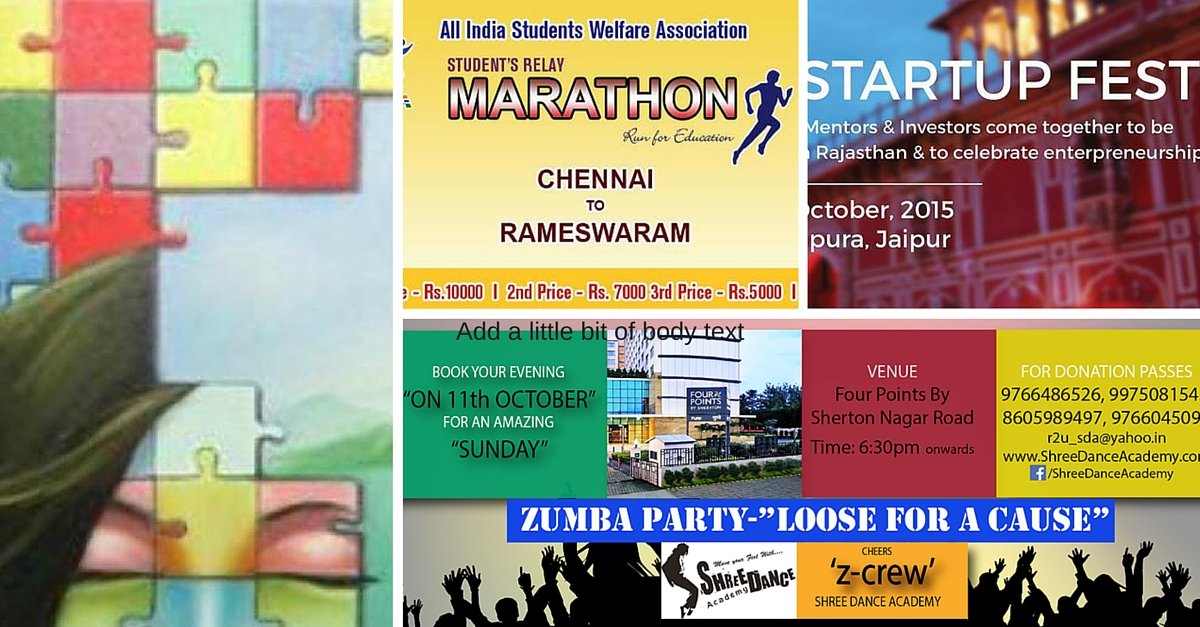 Events to Attend This Week (09/10/15 – 15/10/15)