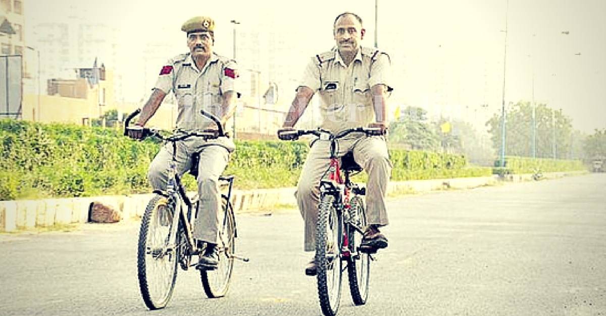 Gurgaon Police Has a New Cleaner & Greener Patrolling Vehicle – the Bicycle!