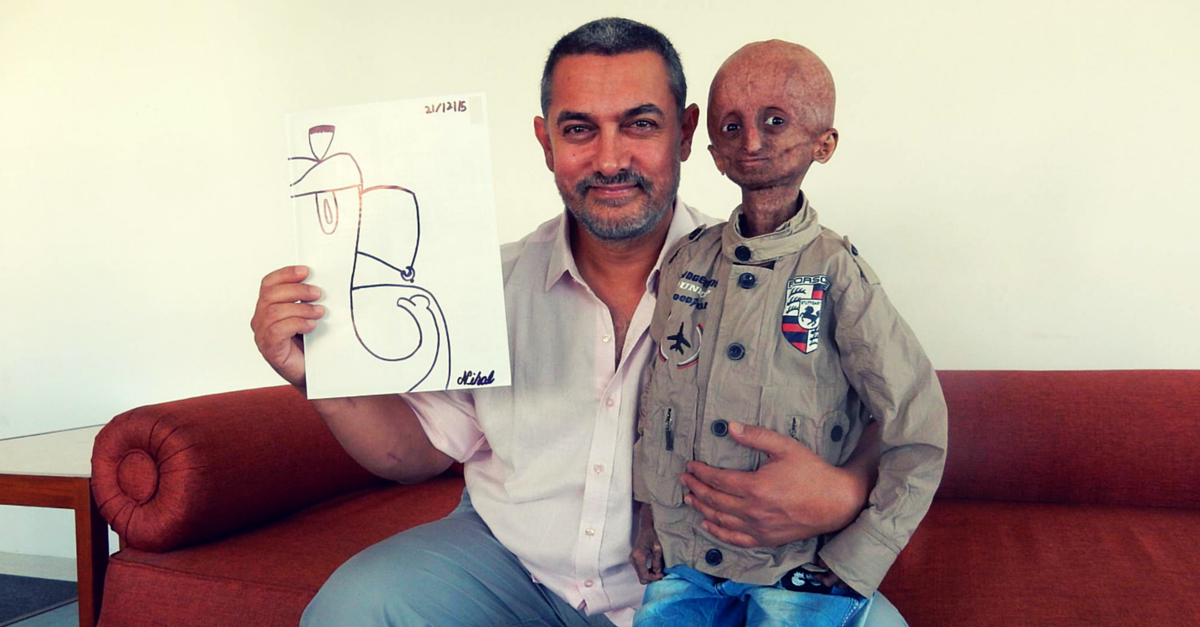 This 14-Year-Old with Progeria Saw Taare Zameen Par When His Dream of Meeting Aamir Khan Came True