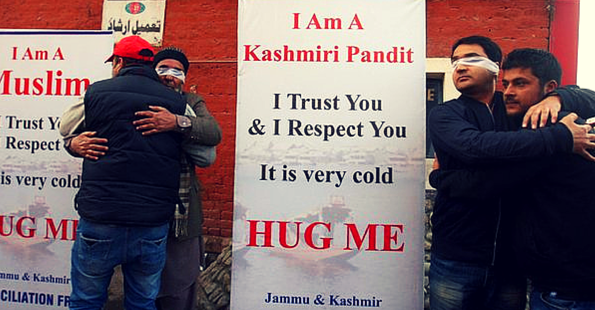 People in Srinagar Are Hugging Blindfolded Kashmiri Pandits, Sikhs and Muslims. This Is Why!