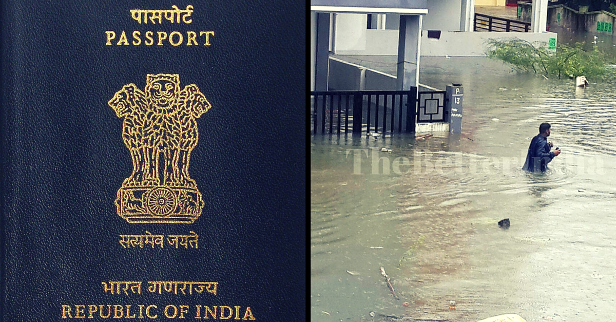Passport Lost or Damaged in #ChennaiFloods? Get It Replaced for Free at These 3 PSKs.