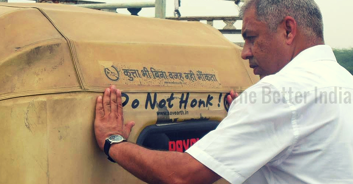 """The """"No Honking Man of India"""" Works Tirelessly to Reduce Noise Pollution on Delhi Roads"""