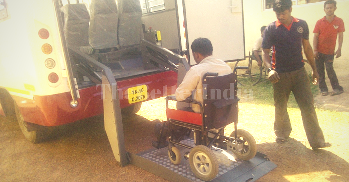 This Disabled Friendly Bus Is the First of Its Kind in Tamil Nadu