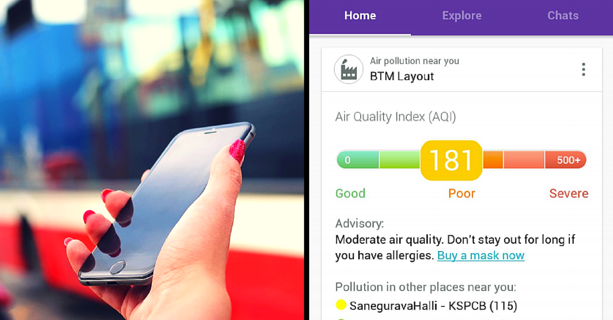 An App That Can Tell You the Pollution Level of the Air You Are Breathing