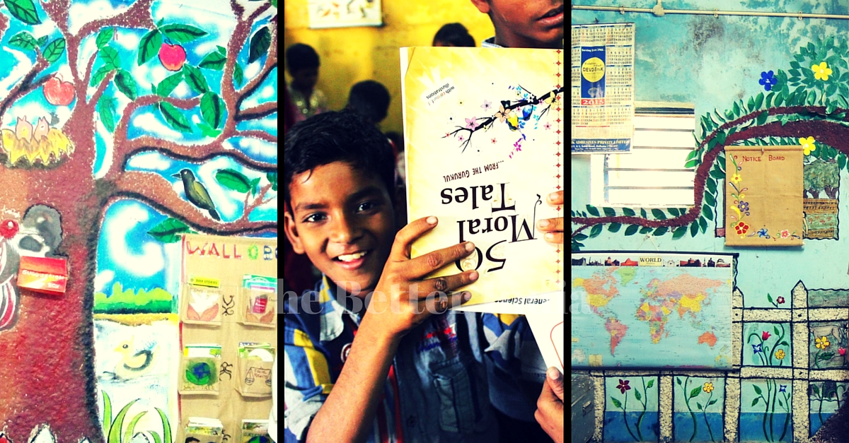 A Sack, a Wall and High Spirits – That's All You Need to Create a Library for Kids!