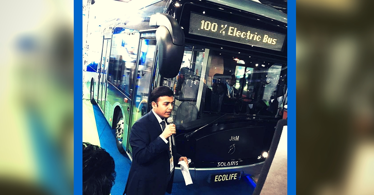 Electric Bus Unveiled at Auto Expo 2016 Could Be the Answer to Air Pollution in Indian Cities