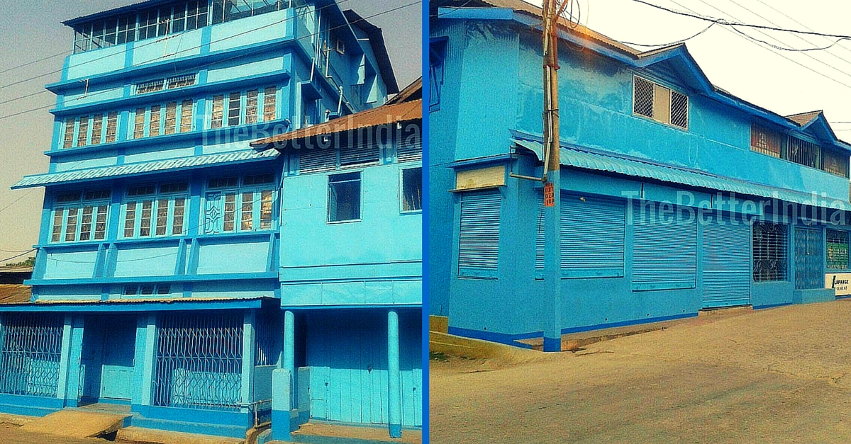 Shops in a Town in Assam Have Been Painted Blue. Here's Why.