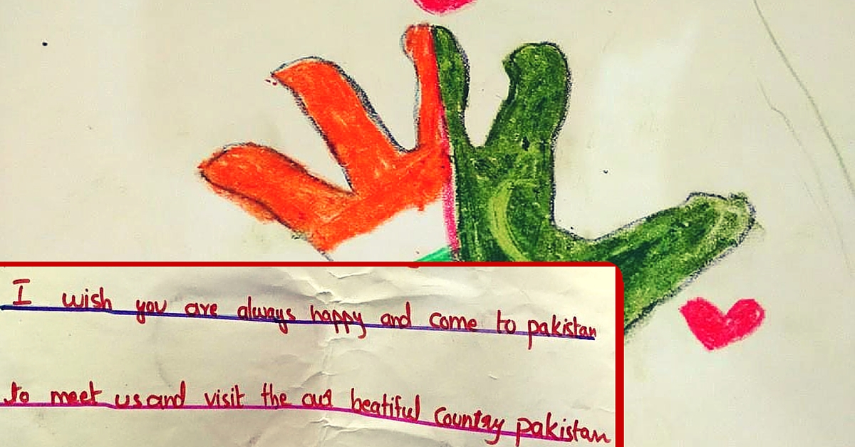 Pakistan Kids Made Beautiful Cards for Their Friends in India. With Some Heartwarming Messages.