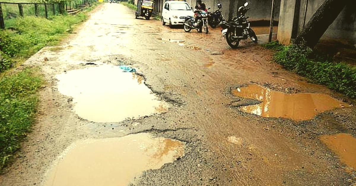 A 46-Year-Old Is Filling Potholes in Mumbai. For a Heartbreaking Reason.