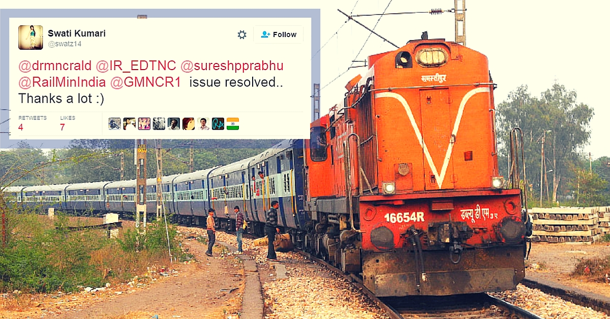 A Woman Tweeted About Unfair Rates of Water on Train. DRM Himself Boarded the Train to Help Out!