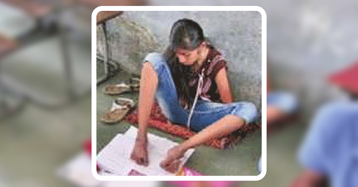 No Need Of An Assistant Writer: Gujarat Teen Who Can't Move Hands Writes Board Exams With Feet