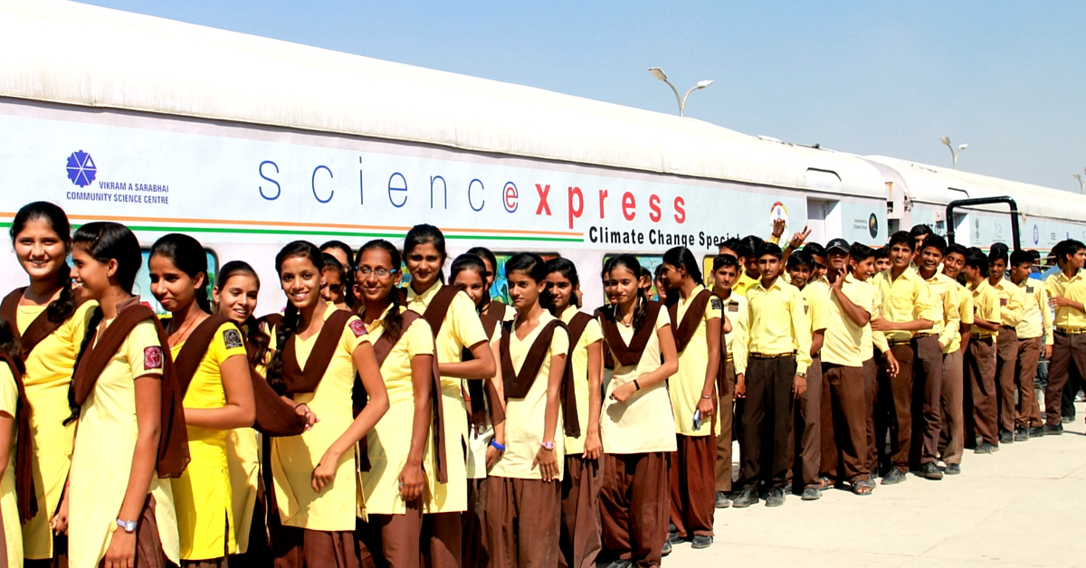 India's Longest Running Free Science Exhibition on a Train Now Teaches Kids about Climate Change