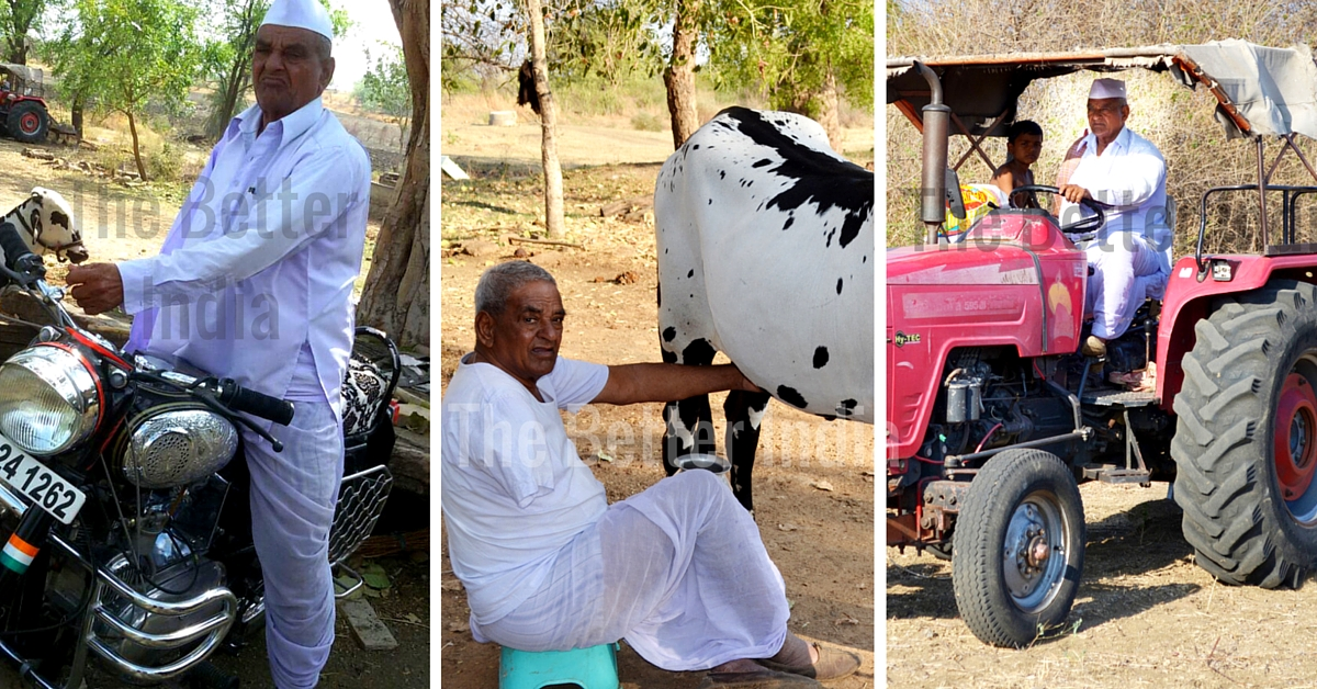 He Lost His Right Arm When He Was 18. Today, He Farms, Drives a Tractor And a Motorcycle Too!