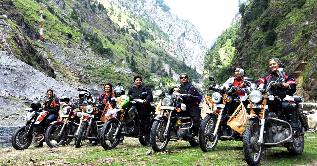 These Seven Women Made History by Riding up to the Highest Motorable Pass in India, the Mana Pass