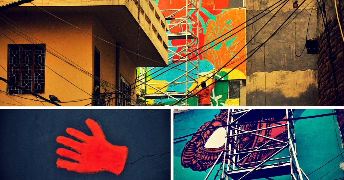 These Oh-So-Cool Wall Murals in Shahpur Jat Are Bound to Make You Stop and Stare