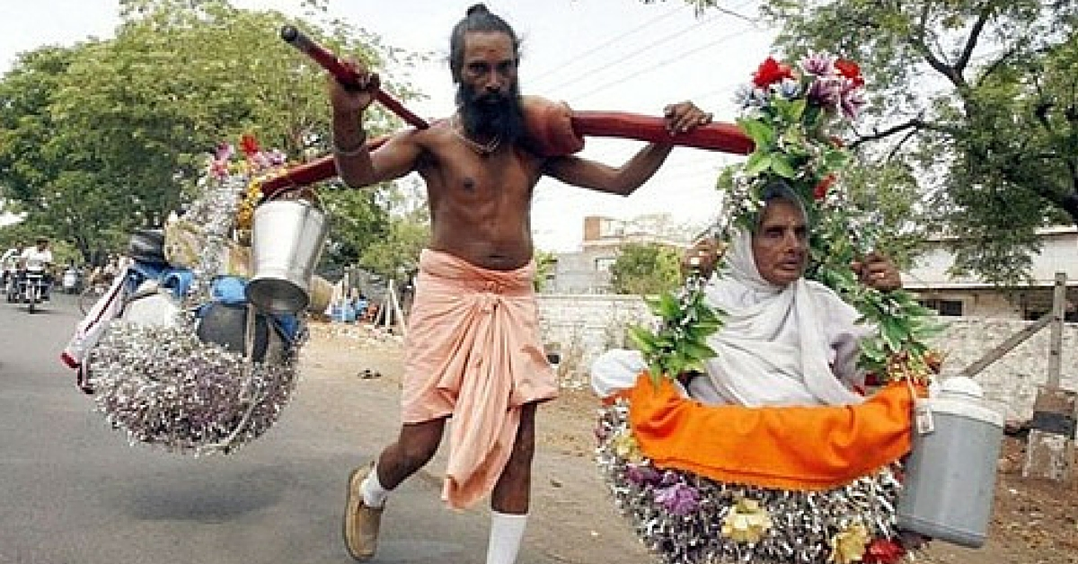 36,000 km on Foot in 20 Years. Why This Man Has Been Walking with His Mother on His Shoulders