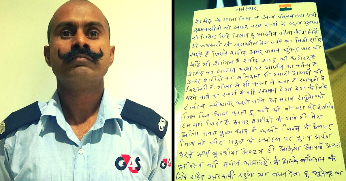 This Security Guard Has Spent 17 Years Writing 3,000 Letters to Families of Indian Army Martyrs