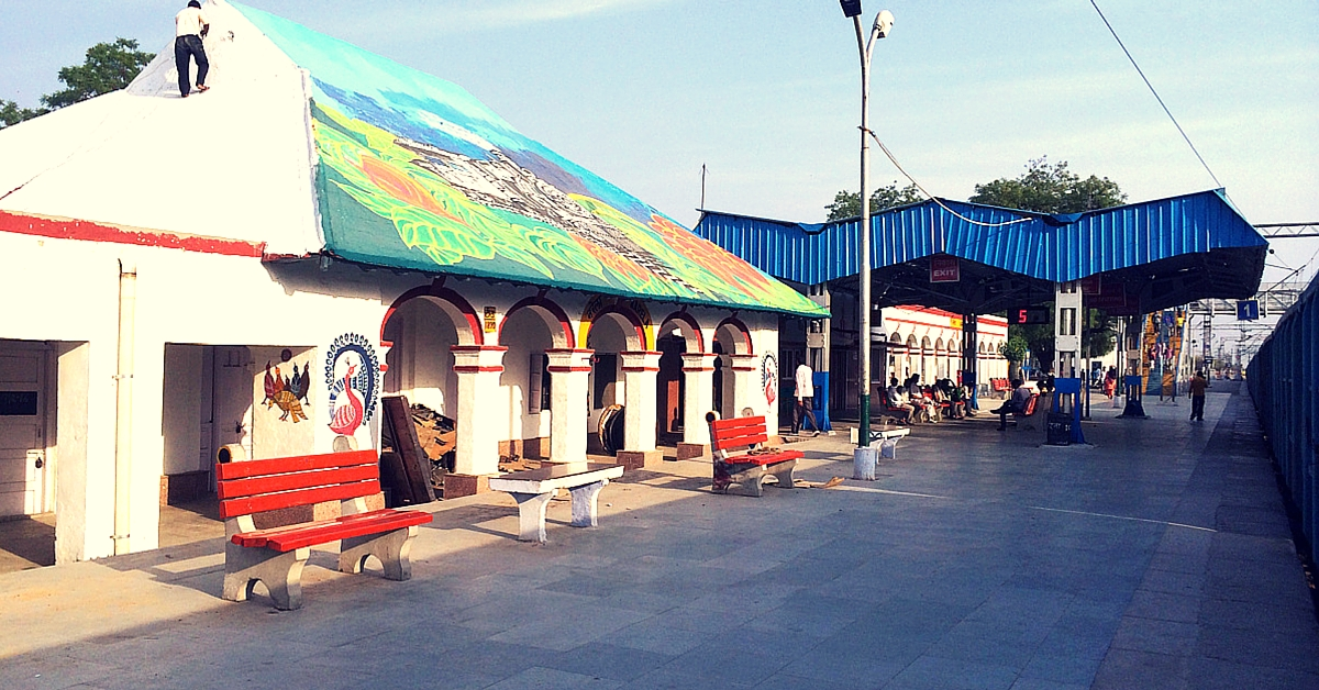 A Group of Artists Just Converted This Neglected Delhi Railway Station into a Beautiful Canvas