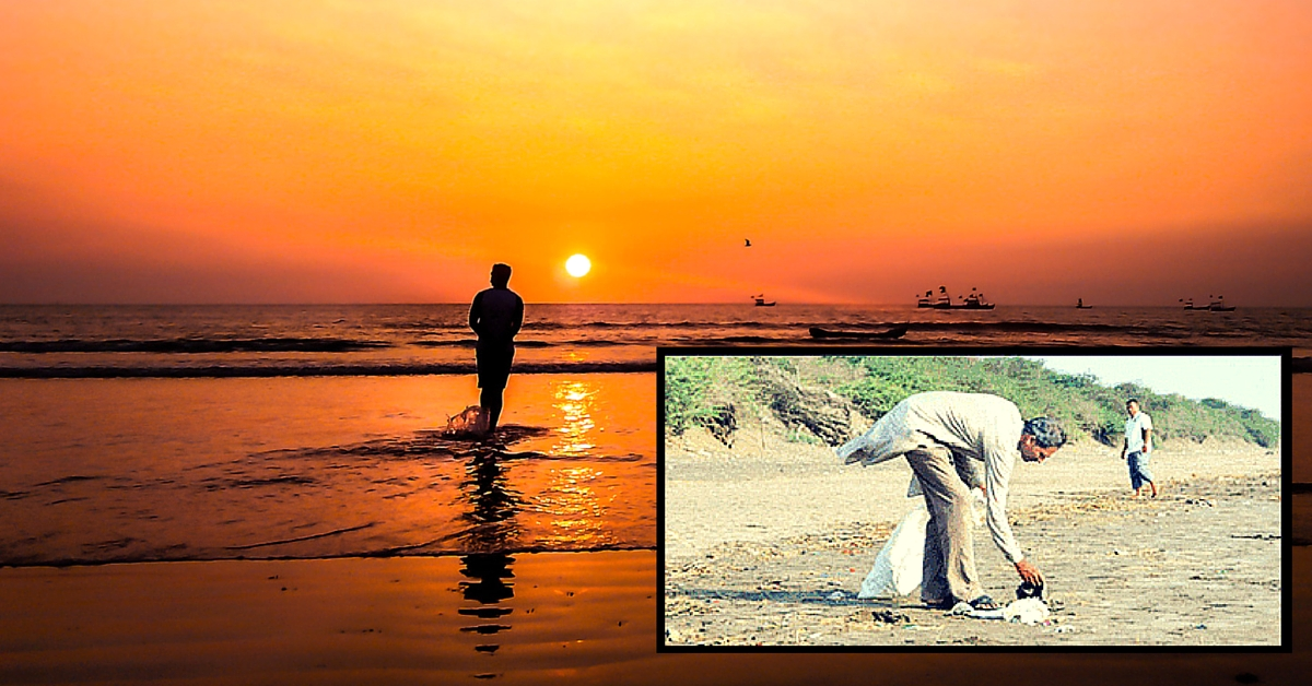 This Man Has Been Cleaning Dandi Beach. Every Day, for the Last 4 Years.