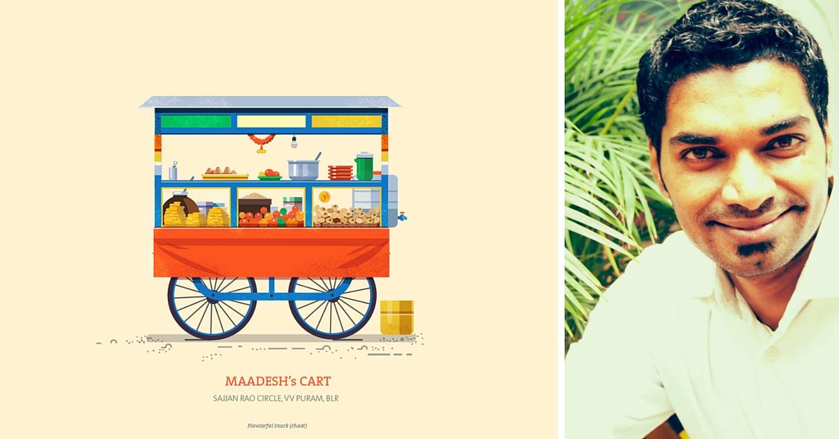 Artist Recreates Old-World Charm of Bengaluru's Push Carts Through Beautiful Illustrations