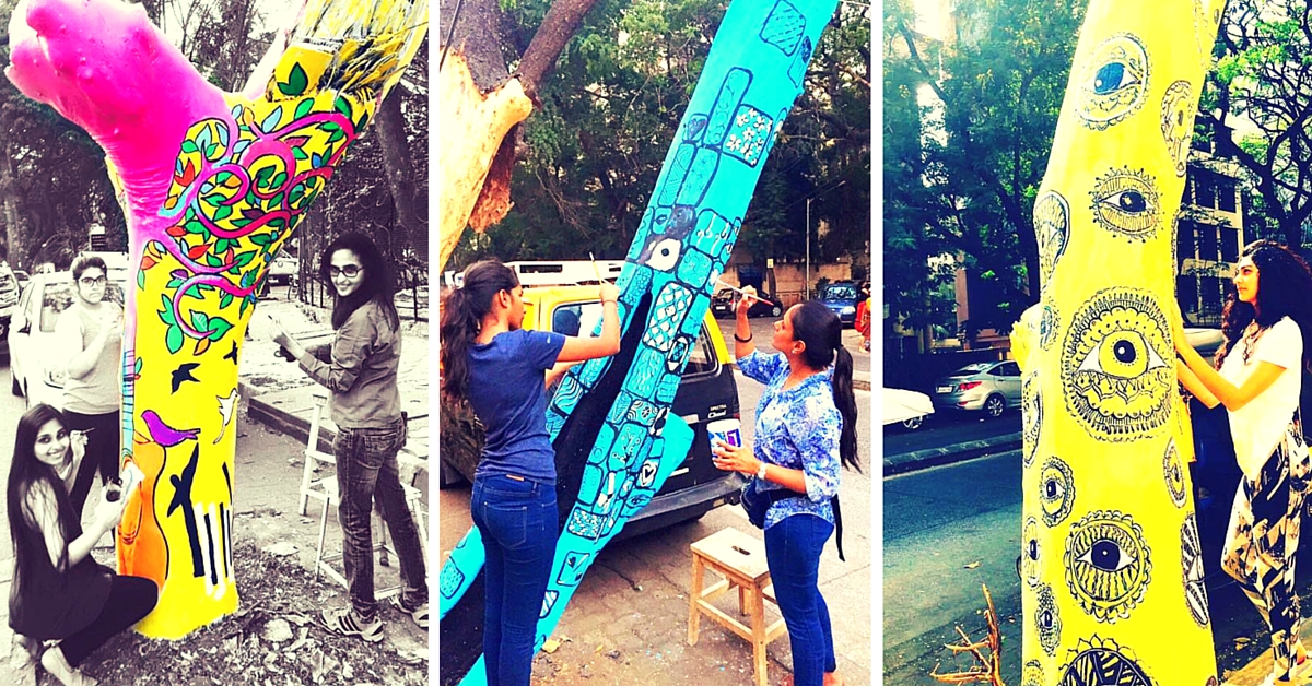 Here's Why 14 Women Including Twinkle Khanna Are Painting Dead Trees in Mumbai