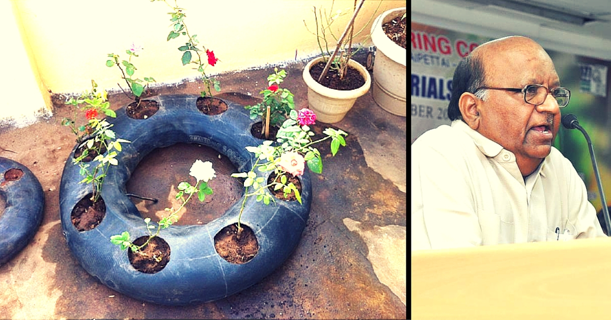 This Man Will Show You How to Conserve Water and Prevent Weeds by Growing Plants in Tyre Tubes