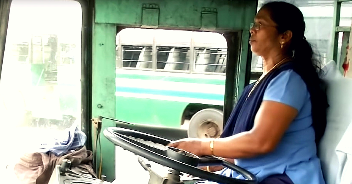 At 57, Asia's First Woman Bus Driver Still Works Routes in Chennai Out of Passion for Driving