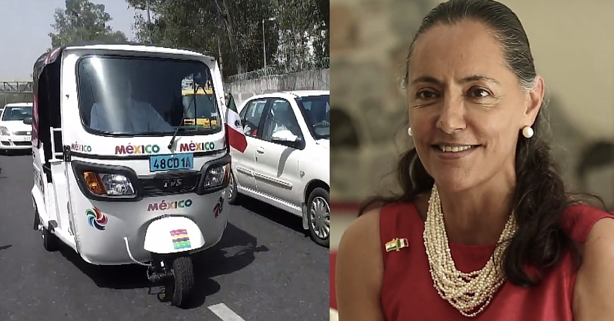 Why the Mexican Ambassador to India Is Using an Autorickshaw as Her Official Vehicle