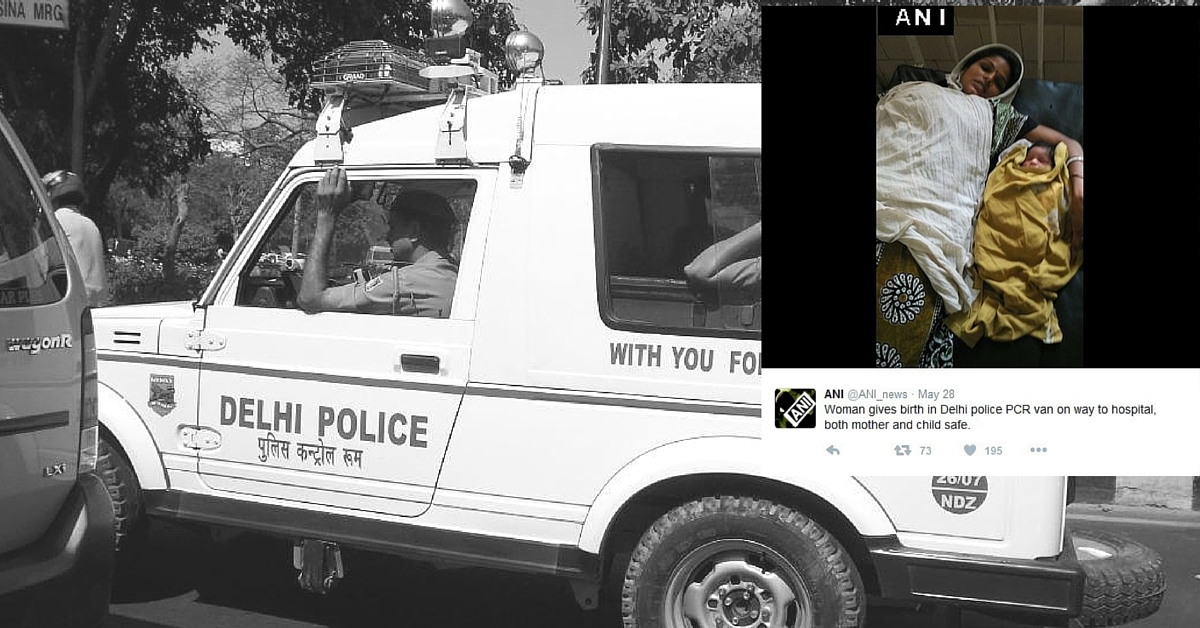 Cops Play Midwife and Help Woman Deliver Her Baby in PCR Van