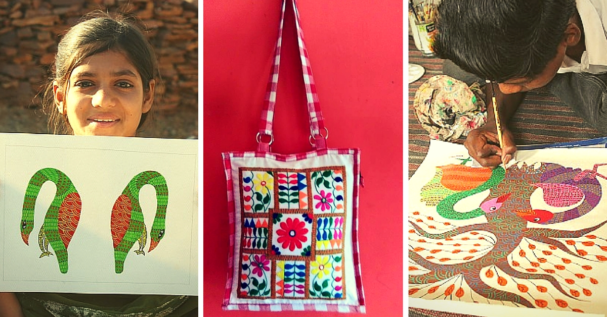 Village Women and Children from MP Sell Artwork Online to Support Their Families