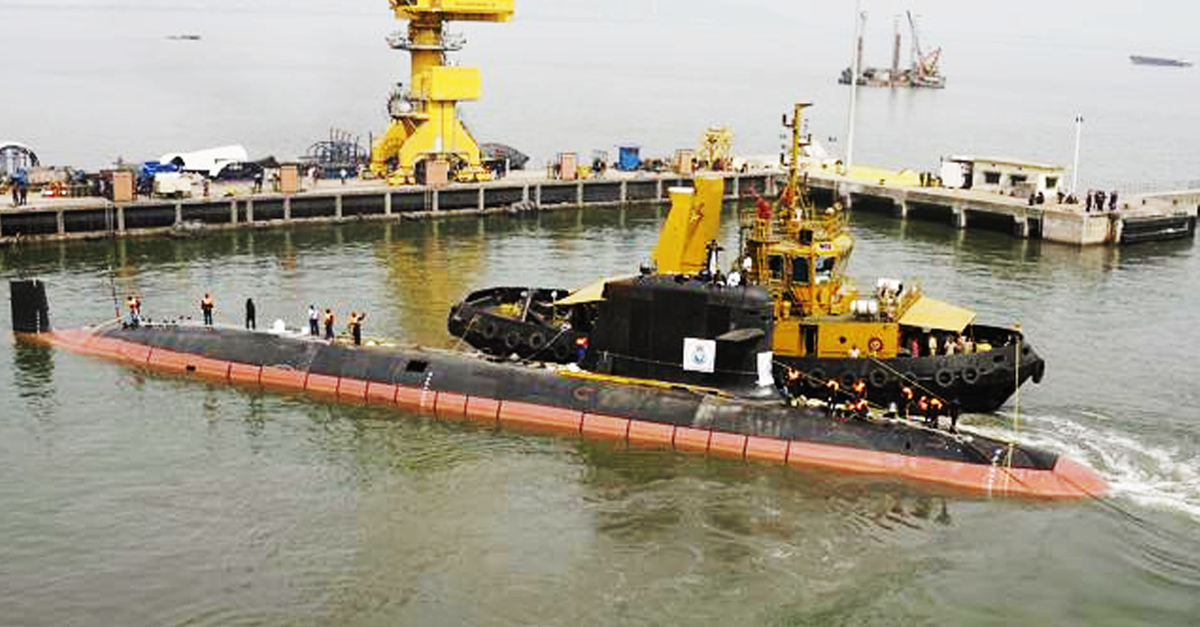 Kalvari – India's First Indigenous Scorpene-Class Submarine Sets out for Sea Trials
