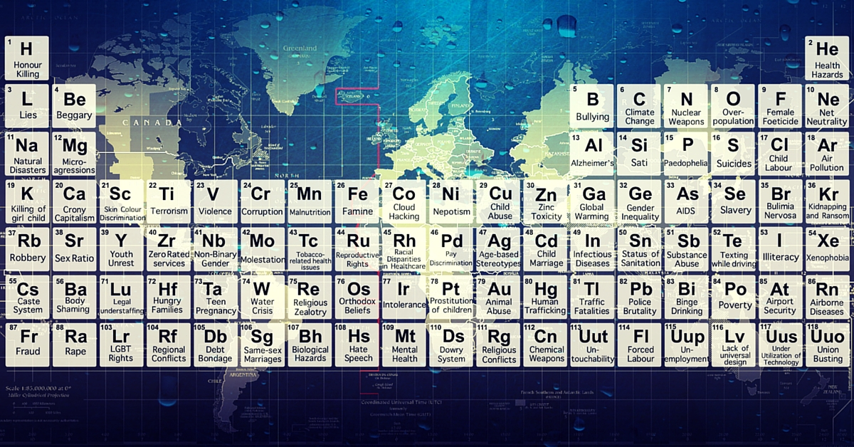 An Artist Reimagines the Periodic Table. And It Looks Downright Scary!