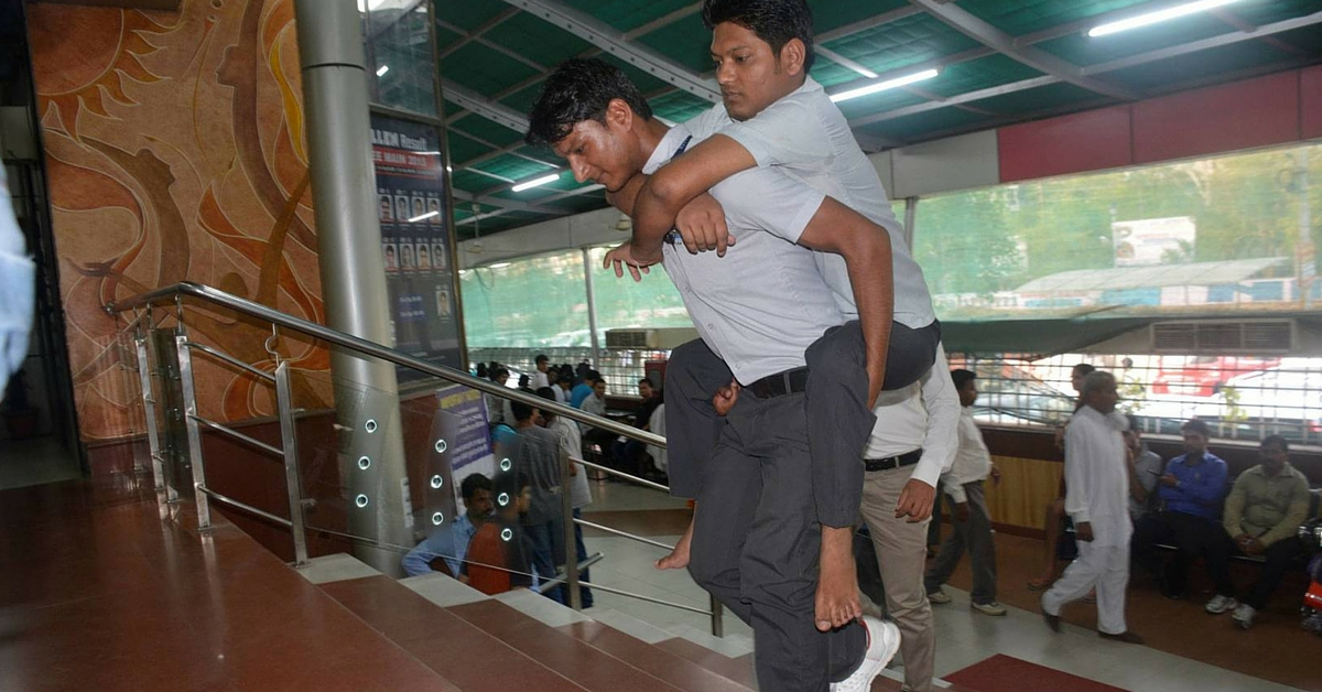 Younger Brother Carries Polio-Stricken Older Brother on Shoulders to School. Both Make it to IIT!