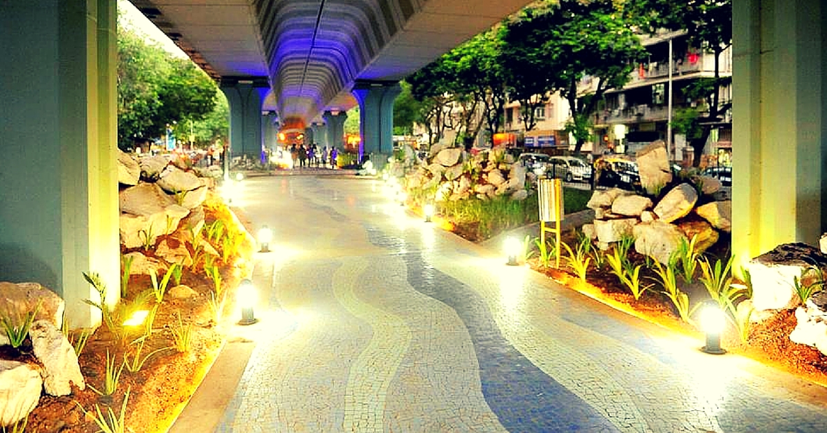 How Matunga Residents Transformed the Space under a Flyover into a Breath-Taking Garden
