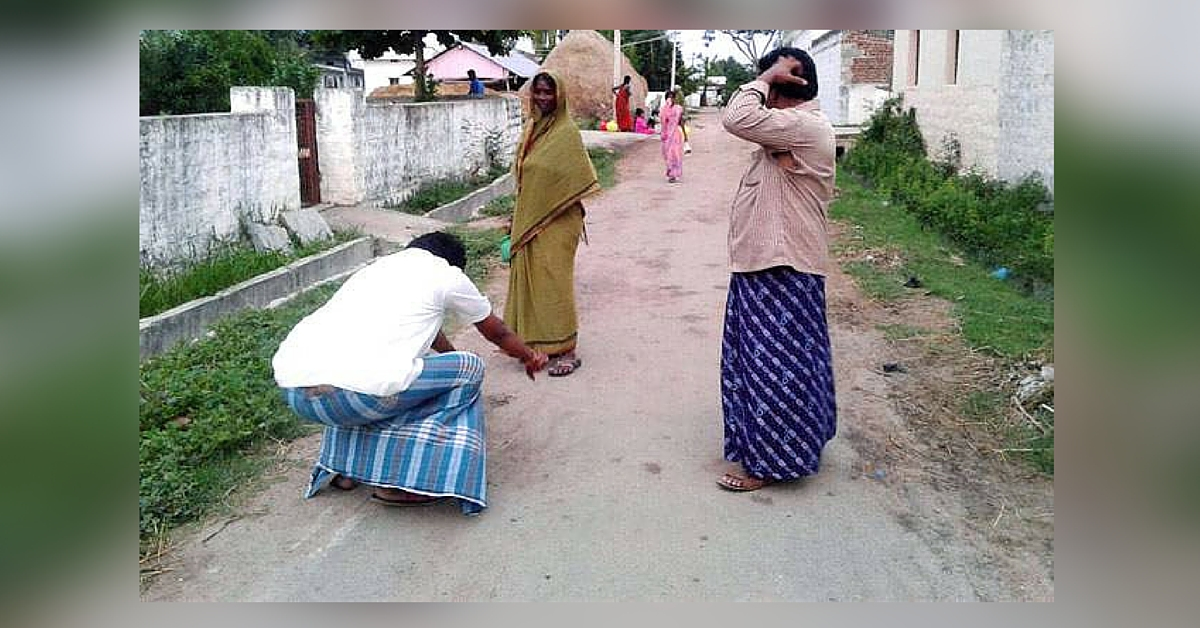 This Sarpanch Will Do Anything to Get His Village Folk to Build Toilets. Even Fall at Their Feet!